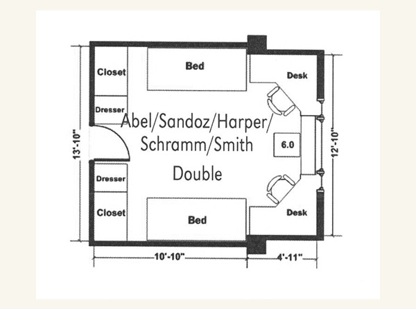 Abel Double Room Floor Plan