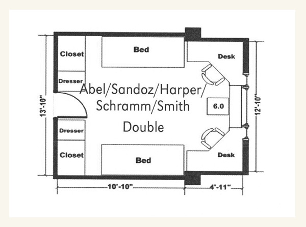 Sandoz Hall Double Floor Plan