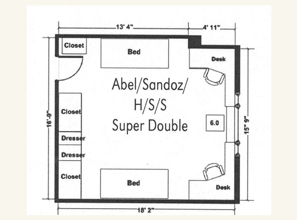 Abel Super Double Floor Plan