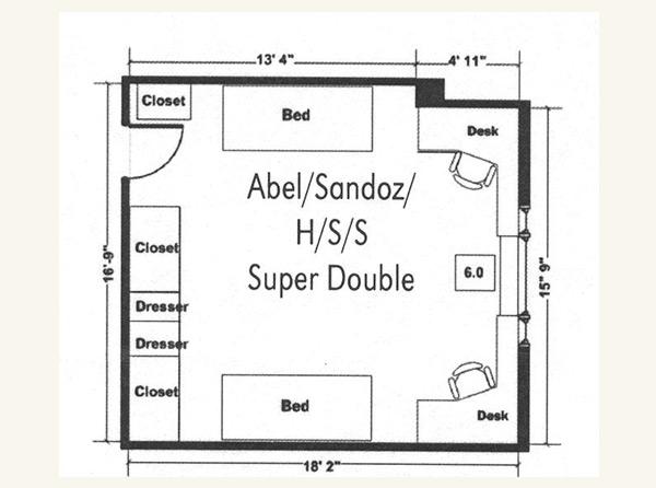 Abel Super Double Floor Plan