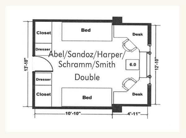 Schramm Hall Double Floor Plan