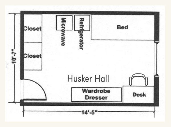 Husker Hall Floor Plan