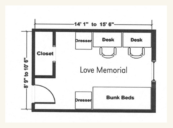 Love Memorial Floor Plan