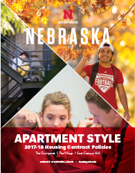 2017–18 Apartment-style Housing Policies booklet cover image