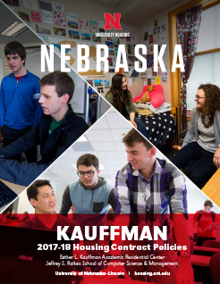 Kauffman Hall Housing Policies booklet cover image