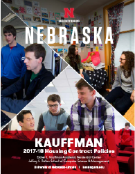 2017–18 Kauffman Hall Housing Policies booklet cover image