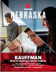 2018–19 Kauffman Hall Housing Policies booklet cover image
