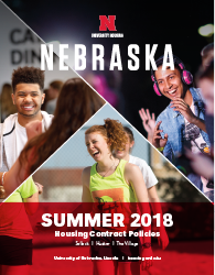 2018 Summer Housing Policies booklet cover image