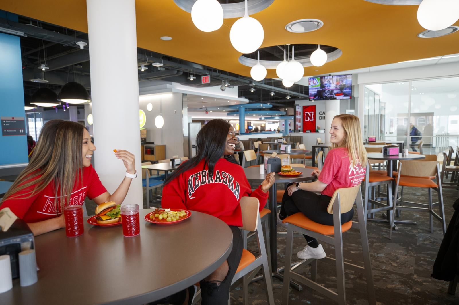 Students in the Cather Dining Center